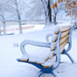 Winter bench - Stockfoto