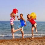 Girls on a beach — Stock Photo