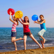 Girls on beach — Stock Photo #4826002