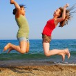 Girls jumping — Stock Photo