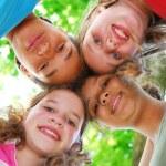 čtyři dívky — Stock fotografie