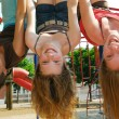Foto Stock: Girls in a park