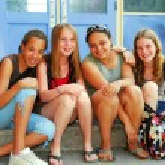 School girls — Stock Photo