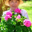 Senior woman gardening — Stock Photo #4826068