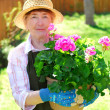Retired gardener — Stock Photo
