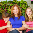Family at their house — Stock Photo #4826095