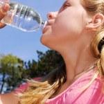Girl drinking water — Stock Photo #4826106