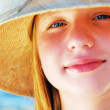 Teenage girl in a hat — Stock Photo #4826272