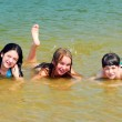 Children in a lake — Stock Photo