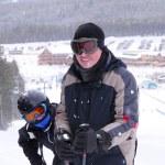 Family skiing — Stock Photo #4826307