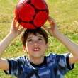 Boy with soccer ball — Stock Photo #4826322