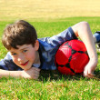 Boy with soccer ball — Stock Photo #4826328