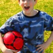 Boy with soccer ball — Stock Photo #4826329