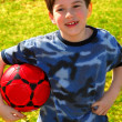 Boy with soccer ball — Stock Photo #4826331