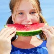 Girl with watermelon — Stock Photo #4826346