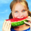 Girl with watermelon — Foto de Stock