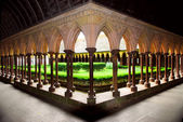 Mont Saint Michel cloister garden — Stock Photo