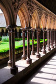 Mont Saint Michel cloister — Stock Photo
