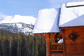 Log mountain cabin — Stock Photo