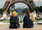 Tourists in France — Stock fotografie