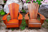 Patio chairs — Stock Photo