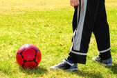Playing soccer — Stock Photo