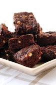 Homemade chocolate brownies — Stock Photo