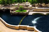 Jardin de la Fontaine in Nimes France — Stock Photo