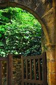 Garden gate in Sarlat, France — Stock Photo
