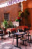 Restaurant patio — Stock Photo