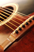 Guitar bridge — Stock Photo