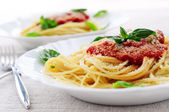 Pasta and tomato sauce — Stock Photo