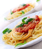 Pasta and tomato sauce — Stock Photo