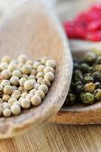 Assorted peppercorns — Stock Photo