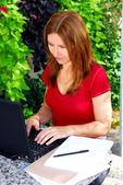 Trabalhar em casa — Foto Stock
