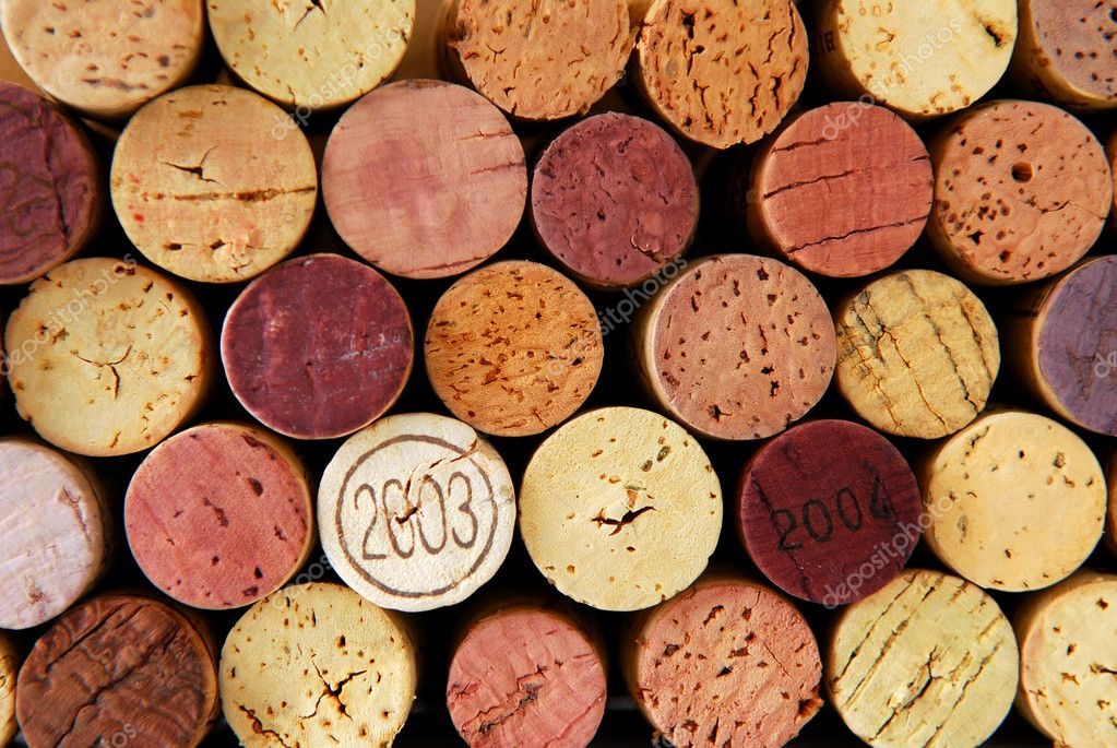Background of assorted wine corks close up — Stock Photo #4825896