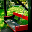 Bench swing - Stock Photo