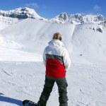 Mountains snowboarding — Stock Photo #4947536