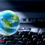 Internet computer business — Stock Photo