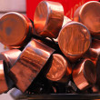Copper pots — Stock Photo