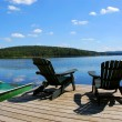 Chairs on dock — Foto Stock