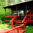 Log cabin woods - Photo