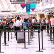 Stock Photo: Airport crowd