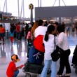 Queue airport — Stock Photo