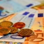 欧元的钱 — 图库照片