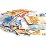 Euro pile — Stock Photo