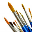 Paintbrushes on white — Foto de Stock
