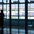 Woman airport — Stock Photo