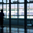 Woman airport - Stock Photo