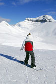 Mountains snowboarding — Stock Photo